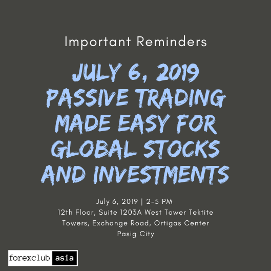 Important Reminders for July 6 – Passive Trading: Global Investments