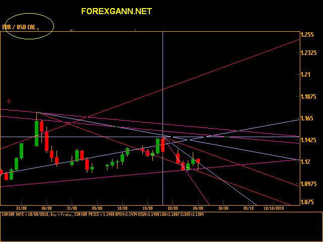 Previsioni e analisi EURO DOLLARO giornaliero 25 settembre 2015 cal