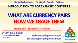 What Are Currency Pairs And How To Trade In Urdu Hindi