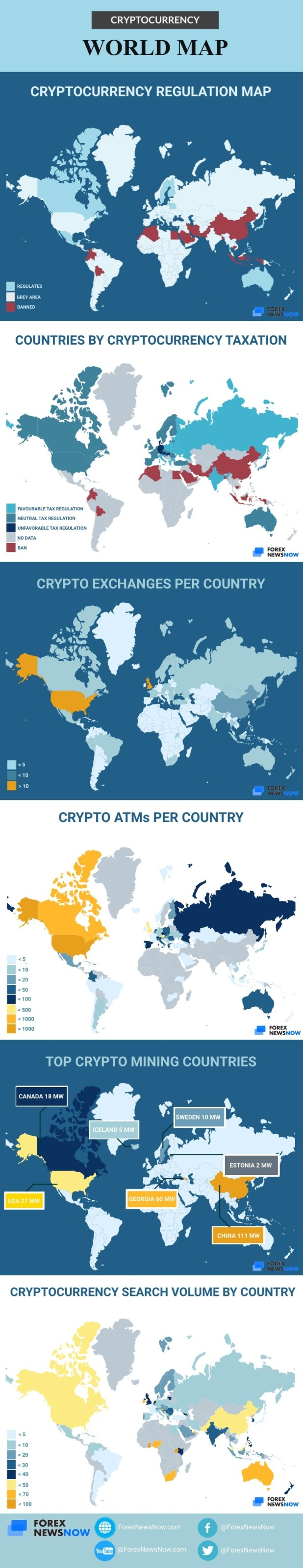 Cryptocurrency World Map