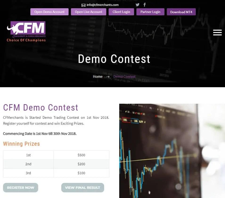 $800 Prize Fund CFM Demo Contest