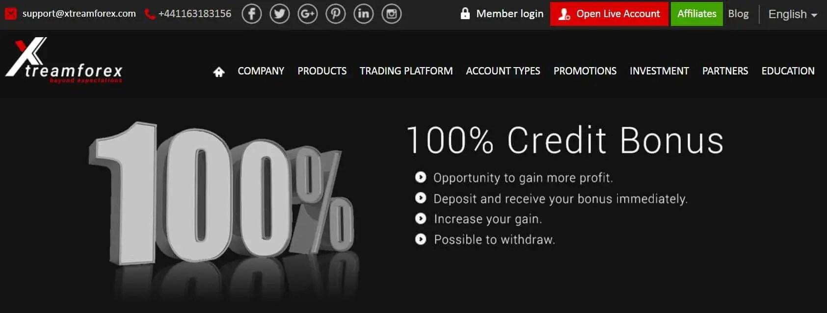 Xtreamforex - 100% Deposit Bonus - Forex Penguin