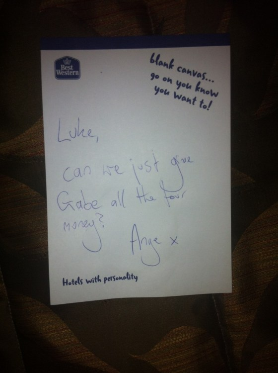 Photo 3 - Gabe's Note