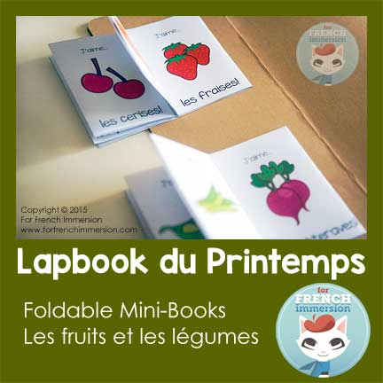 Lapbook du Printemps - Fruits & Vegatables Foldable Mini-Books
