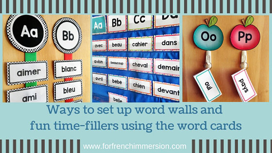 French Word Wall Ideas and Activities - Mur de Mots