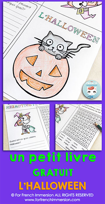 Quand Est Ce Halloween.French Halloween Foldable Mini Book Free For French Immersion
