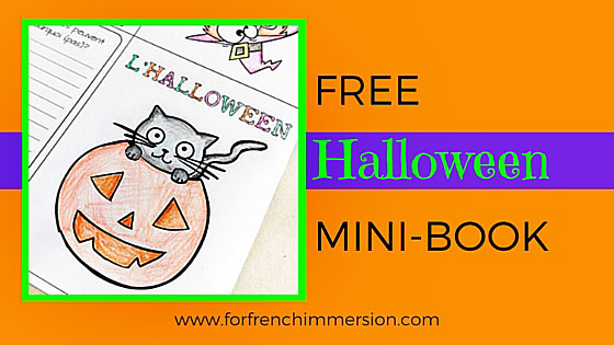 French Halloween Foldable Mini Book Free For French Immersion