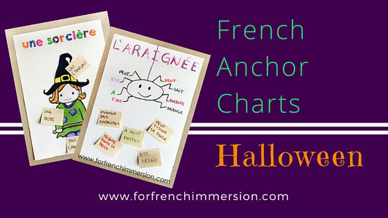French Anchor Charts for Halloween! Anchor charts are great tools to support students' understanding and learning of the French language.