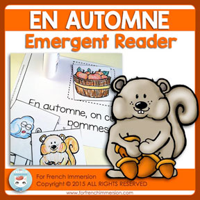 "French Emergent Reader ""EN AUTOMNE"""