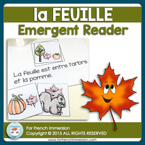 "French Emergent Reader ""LA FEUILLE"""