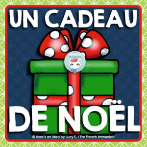 "FREE French Christmas Gift: ""Joyeux Noël"" banner and pencil toppers for students!"