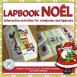 French Christmas Lapbook: interactive activities for notebooks or lapbooks. Fun and engaging way to teach or review Christmas vocabulary, grammar, writing, and more!
