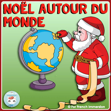 Christmas around the world French resource: a set of mini-books, each one focusing on a different country. Reading practice and cultural awareness resource for Christmas. Pour Noël!
