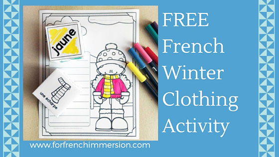 french winter clothing vocabulary for french immersion. Black Bedroom Furniture Sets. Home Design Ideas