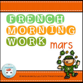 French morning work: MARCH | MARS