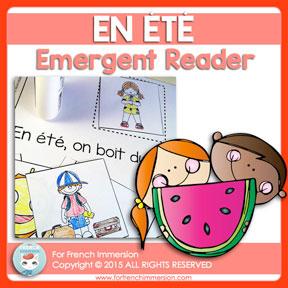 French Emergent Reader: Summer / En été. Livre pour les lecteurs débutants. En français.