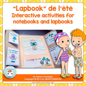 French Summer Lapbook: lapbook d'été