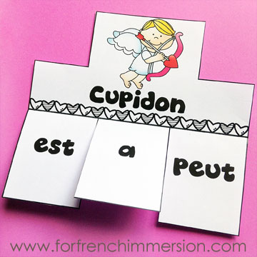 Lapbook de la Saint-Valentin – French Valentine's Day Lapbook: interactive foldable activities, and more French practice! (pictured) Cupid IS/HAS/CAN