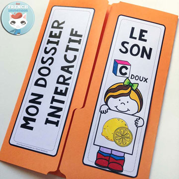 French Phonics Resources: dossier interactif – le son C doux. French interactive lapbook to practice the sound C doux, as in Citron, merCi, poliCier, etc.