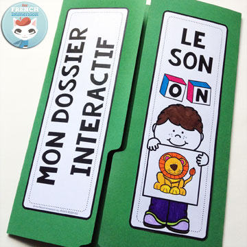 French Phonics Resources: dossier interactif – le son ON. French interactive lapbook to practice the sound ON, as in liON, mONde, maisON, etc