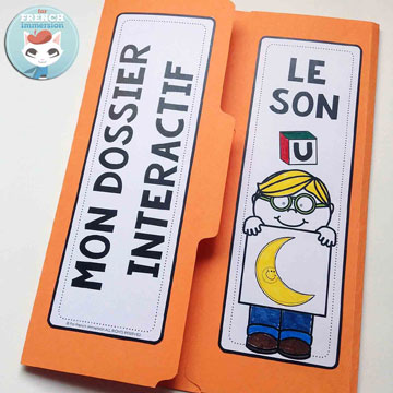 French Phonics Resources: dossier interactif – le son U. French interactive lapbook to practice the sound U, as in lUne, Usine, fUsée, etc.