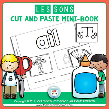 French Phonics Resources: French sounds cut and paste mini-book with over 80 spellings!