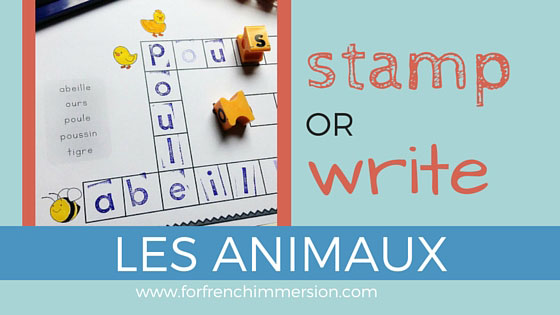 French Animals Vocabulary Stamping OR Writing Worksheets! Fun and engaging activity that will help your students improve fine motor skills and learn the names of animals in French! Les animaux :)