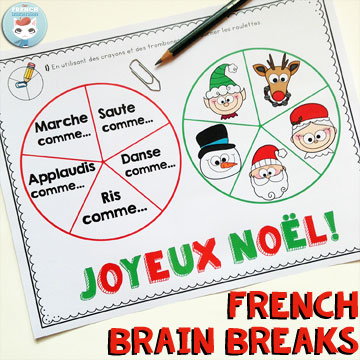 FREE Christmas-themed French brain breaks: a fun way to get your kids moving, recharging, and refocusing!