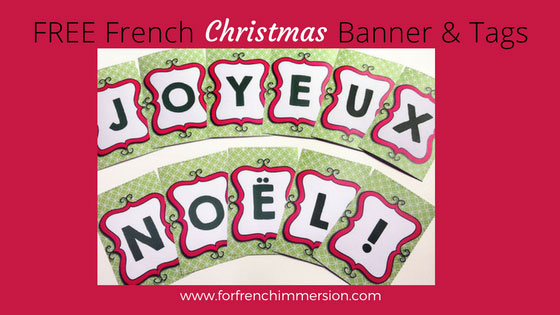 FREE French Christmas banner and mini gift tags!