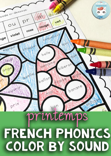 french spring color by sound for french immersion. Black Bedroom Furniture Sets. Home Design Ideas