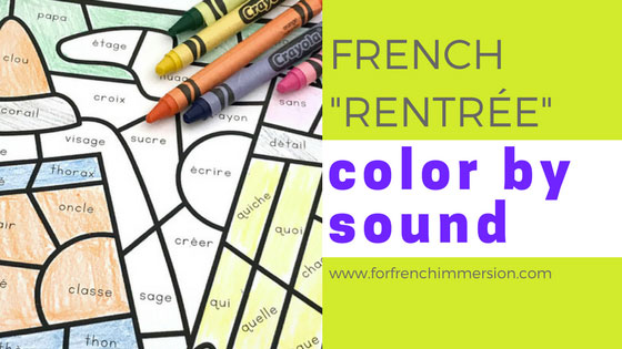 french back to school color by sound for french immersion. Black Bedroom Furniture Sets. Home Design Ideas