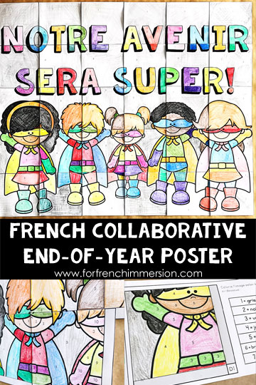 french collaborative poster have your french students working together to create something unique to celebrate
