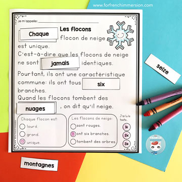 Reading Comprehension Archives - For French Immersion