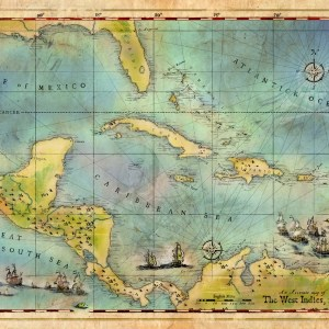 Pirates of the Caribbean Map 1660 for sale