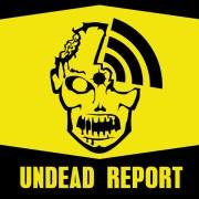 Undead Report Zombie Logo Sticker Design