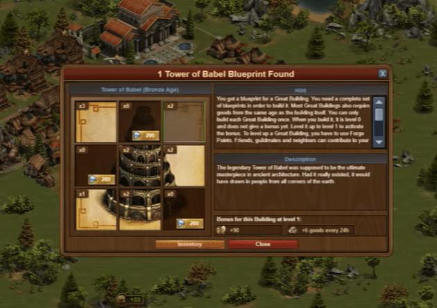 Forge of Empires Babel Bleuprint