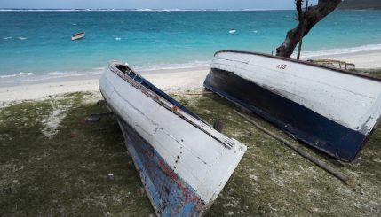 Sweet, beached, fishing boats