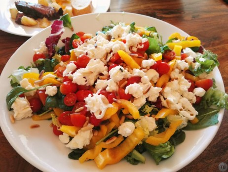 Nightshade salad with Burrata