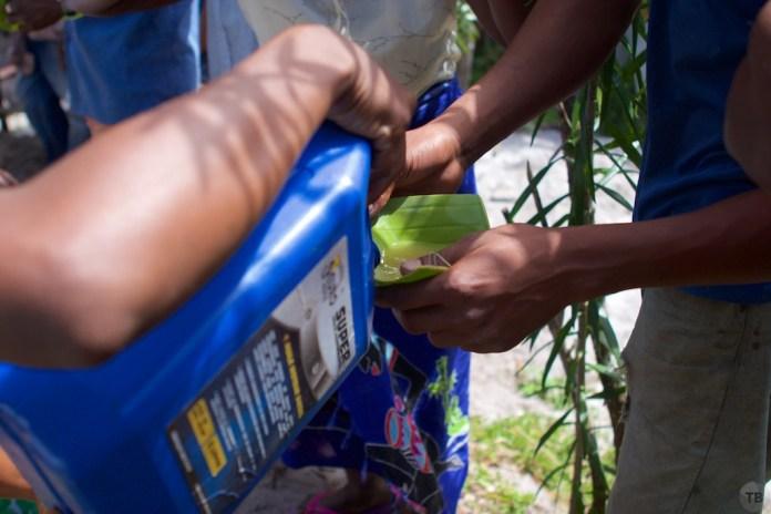Betsabesta from a motor oil jug