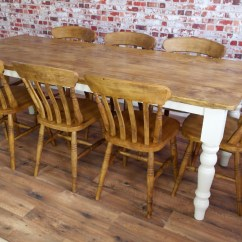Pine Kitchen Chairs For Sale Backjack Anywhere Chair Rustic Farmhouse Reclaimed Dining Table Set