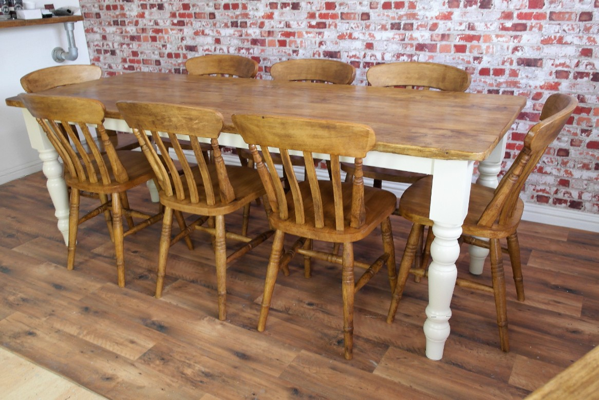 rustic kitchen table sets lowes cabinets sale farmhouse reclaimed pine dining set