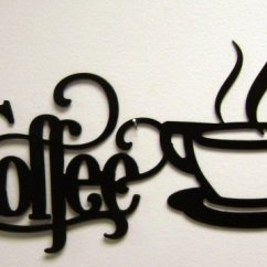 Black And White Kitchen Accessories Wood Tile Floor Polish Tableware Home Coffee Sign With Mug
