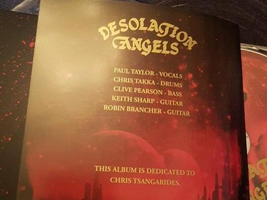 Desolation Angels - Tsangarides (RIP)