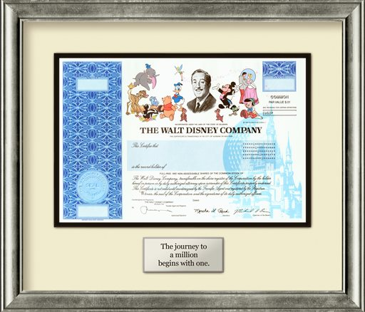 Disney-Stock Certificates