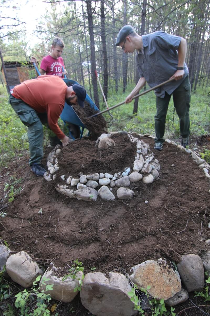 Can't wait to see what they do with that garden using permaculture!