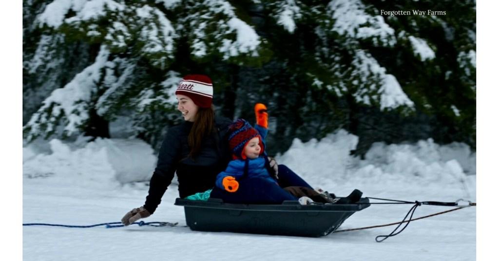 I love sledding, it brings back such good memories!