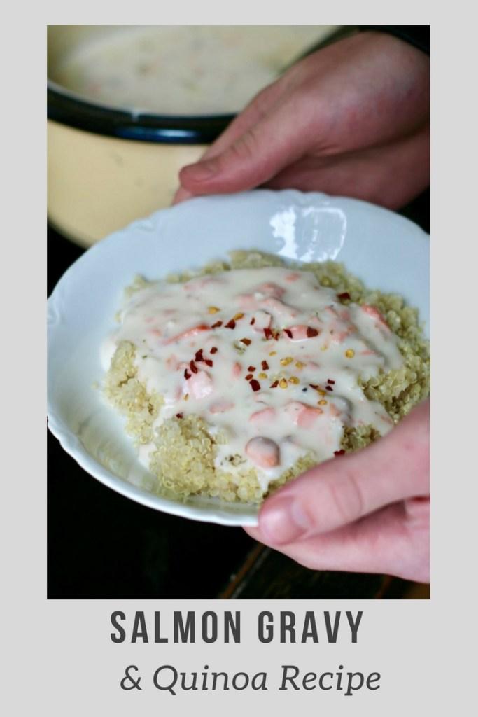 Salmon Gravy & Quinoa Recipe! This looks AMAZING!