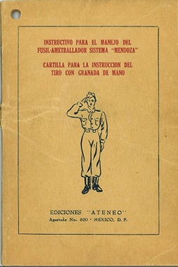 Instructions for Using the Mendoza Machine Gun - printed 1948 (in Spanish)