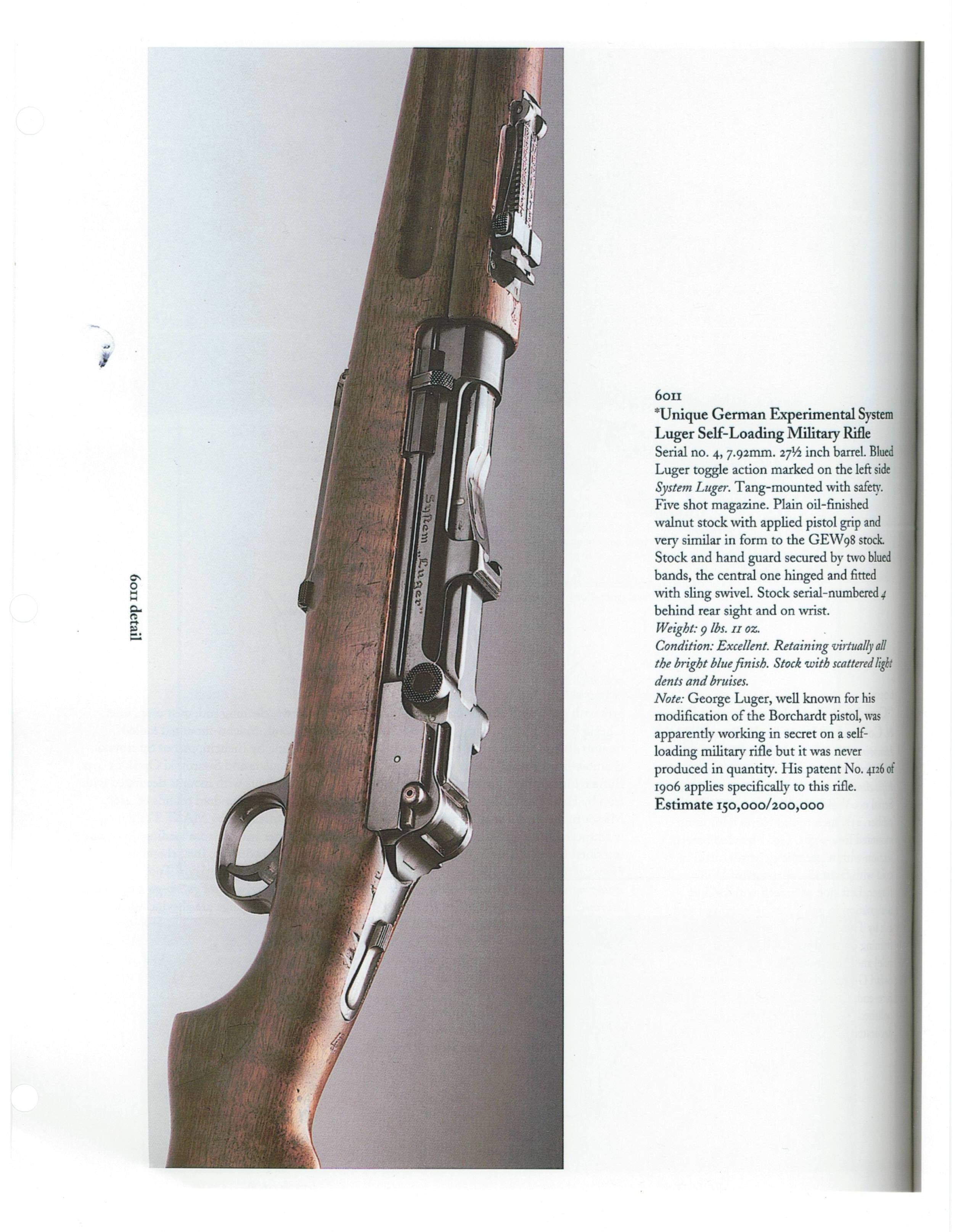 German Luger rifle – Forgotten Weapons