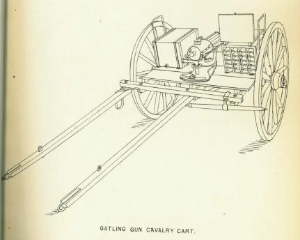 Gattling gun cavalry carriage
